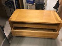 Solid oak TV - DVD cabinet £120