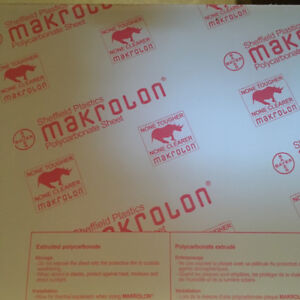 "Polycarbonate Sheet Stock, 1/2"" thick"