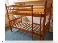 Solid pine bunk beds from next