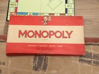 Vintage Monopoly game 1961