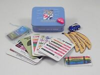 Car journey games in a tin