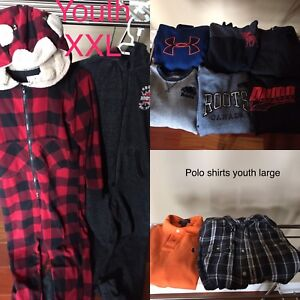 Back to school clothing for boys.