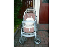 Graco Buggy with carrycot, cozy toes and raincover