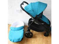 iCandy Strawberry 2 pram pushchair with car seat or without- Blue Pacific CAN POST
