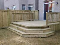 Sturdy long lasting fences and decks