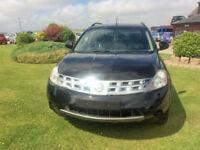 2005 05 Nissan Murano 3.5 V6 X-Tronic CVT Petrol Black NEEDS ENGINE NO MOT.