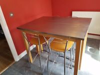 John Lewis Stainless Steel Dining Table and Chairs
