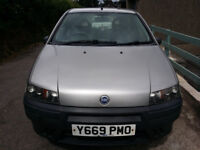** Price Lowered For Quick Sale** Fiat Punto 1.2 8V 3 door 2001/ fresh MOT/ good runner/ very clean