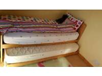 Single Pine bed, with Trundle bed