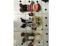 set of 3 collectable movie dolls