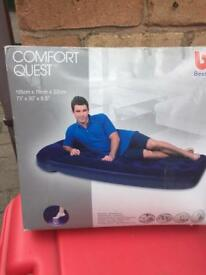 Single air bed - new
