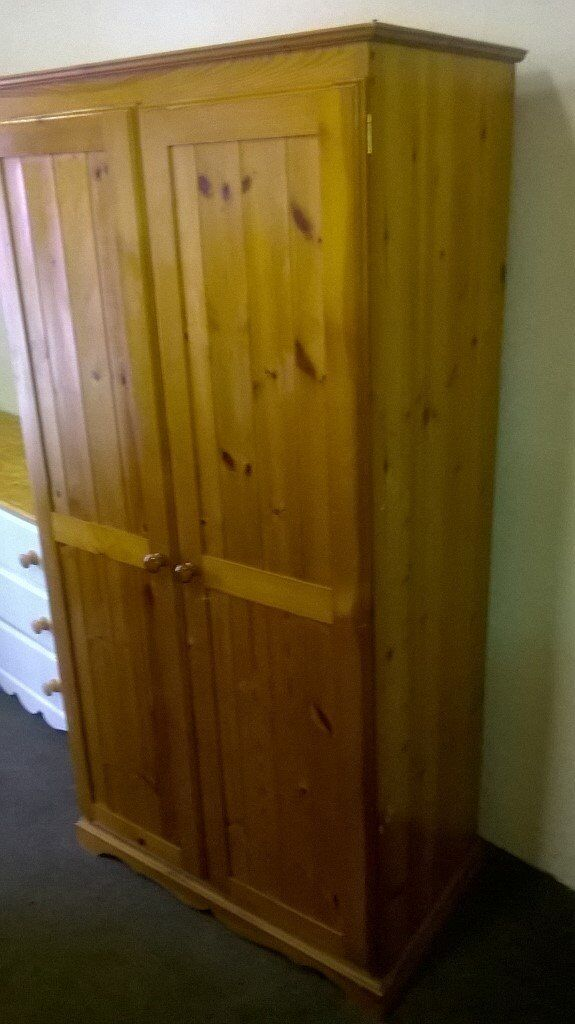 Pine wardrobein Diss, NorfolkGumtree - Pine double wardrobe in used condition, viewing and collection from Diss or delivery possible please ask
