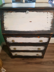 Beautiful Secretary style dresser hand distressed painted