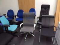 Huge Used Office Furniture Sale Chairs Desks Meeting Tables Reception Counters Rubery Birmingham