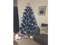 7ft beautiful black Christmas Tree