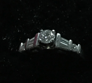 Platinum Engagment and Wedding Band Set