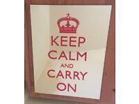 Keep calm and carry on bedroom mirror