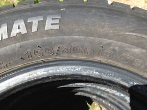 4 Tires 155/80R13 Studded tires like new Aprox:500km