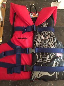 Spider man kids life jacket