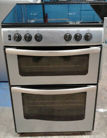 B697 Stainless Steel New World 60cm Double Oven Gas Cooker, Comes With Warranty & Can Be Delivered