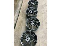 19 inch RS4 5X112 ALLOY WHEELS BLACK EDITION S LINE AUDI VW SEAT SKODA