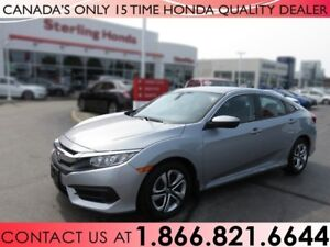 2017 Honda Civic LX | NO ACCIDENTS | LOW KM'S