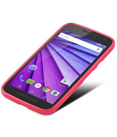 LOST Moto G phone with a transparent red case