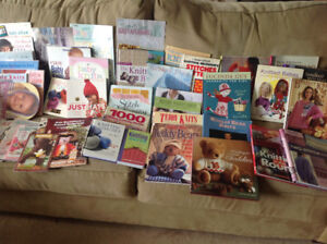 Lot of 30+ knitting books h/c & s/c all in great shape