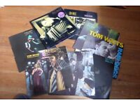 Collection of 8 early Tom Waits vinyl albums