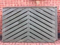 Heavy timber fence panels