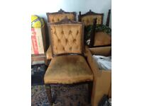 4 antique dinning chairs