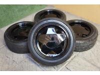 "Genuine Borbet A 15"" Alloy wheels 4x98 Fiat 500 Punto Panda KA Uno Tipo"