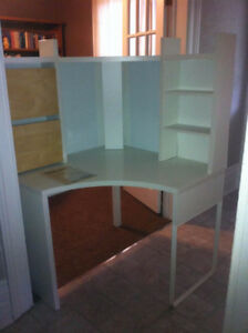 MICKE Ikea corner desk (white) in St Marys, ON