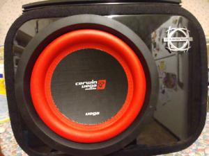 "2200w db drive 5ch amp, cerwin vega 10"" sub, bassworx box"