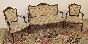 Antique 1880's Parlor Room Chair Set