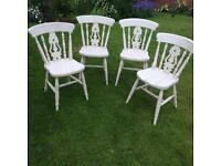 Set of Pine Farmhouse Chairs