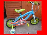 "Disney Pixar Toy Story 12"" 12 inch Childrens Bike bicycle with Stabilisers Unisex girl boy"