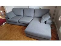4 Seater Chaise Sofa - left side (Next Home)