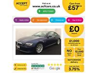 Blue BMW 635d Sport Coupe Diesel Auto 2009 FROM £57 PER WEEK!