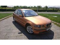 BMW 316I COMPACT E46 ORANGE ALLOYS WITH BRAND NEW TYRES GREAT ENGINE AND SUSPENSION SMALL AGE MARKS