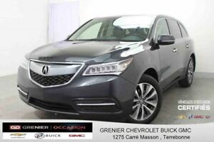 2016 Acura MDX Navi AWD 7 PASSAGERS *GPS + CUIR + TOIT OUVRANT*