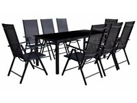9 Piece Garden table and chairs set