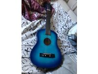 Blue junior acoustic guitar