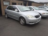 BARGAIN 2003 TOYOTA COROLLA 10 MONTHS MOT SERVICE HISTORY RELIABLE CAR PX WELCOME £595