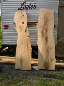 "LIVE EDGE SLABS "" ELM"" Dry and can be delivered"