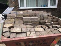 Reclaimed block paving driveway patio bricks