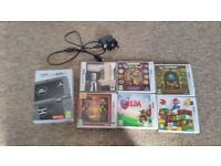 New nintendo 3DS XL with 6 games and Charger