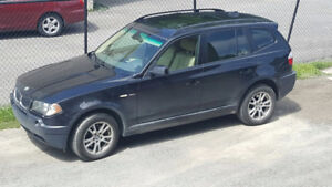 2004 BMW X3 AWD SUV, Crossover Manual 6 speed transmision