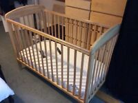 Mamas and papas Athena cot and mattress for sale
