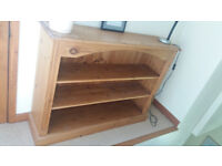 Stripped Pine low level bookcase for sale
